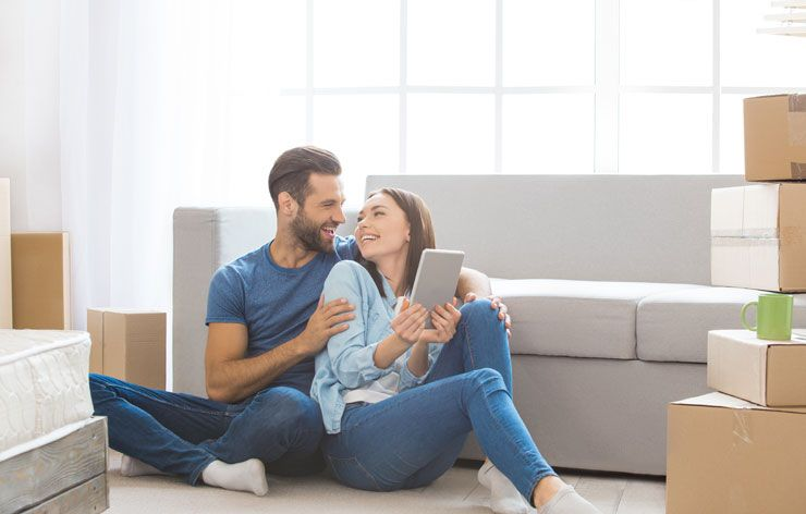 Residential Moving Companies happy couple