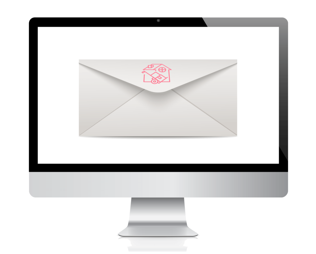 mac monitor envelope logo