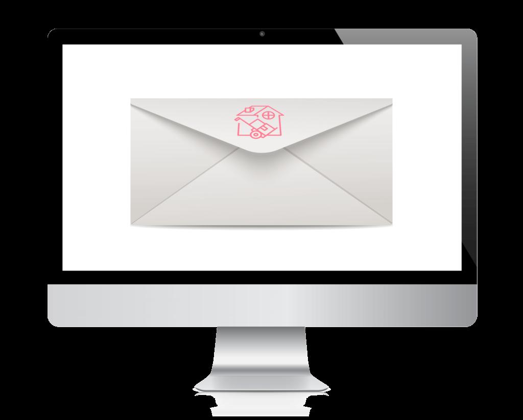mac monitor envelope logo