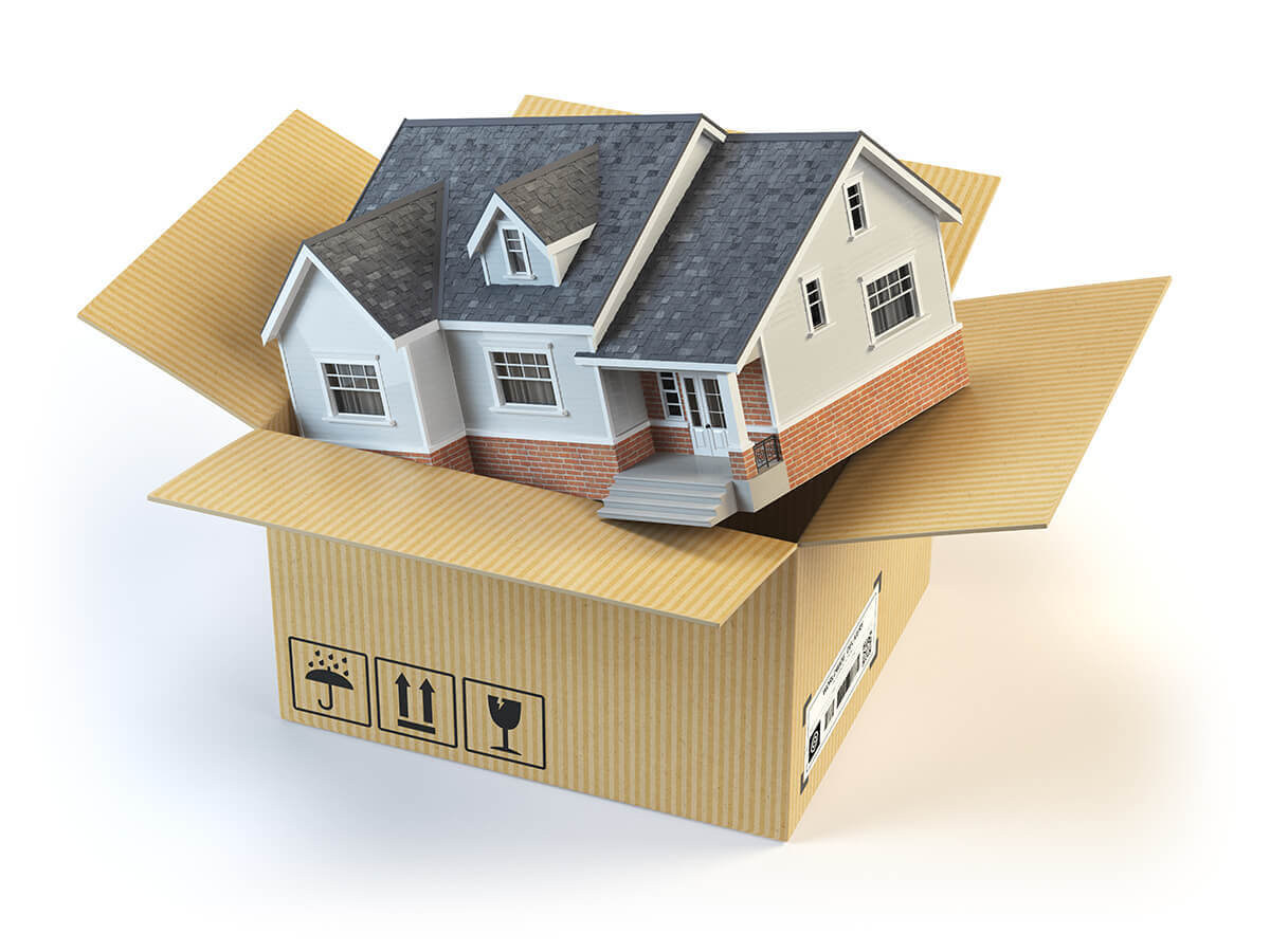 Residential Moving Services box with home inside it
